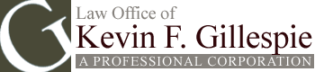 Law Office of Kevin F. Gillespie A Professional Corporation Header Logo